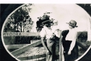 Bert Maude and Winafred Evans at farm, Beerburrum_1
