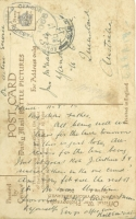 McNAB R postcard to father