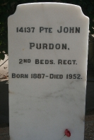 PURDON John/James 14137 UK army